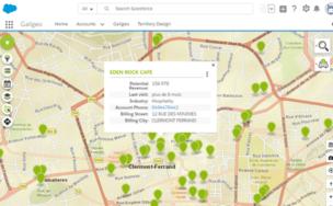 Salesforce map: géolocalisez vos comptes
