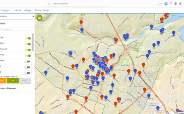 Give your sales force a boost by adding maps to Salesforce ... Salesforce Mapping on training mapping, informatica mapping, twitter mapping,