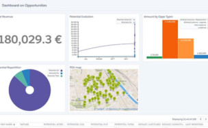 Salesforce map : tableau de bord