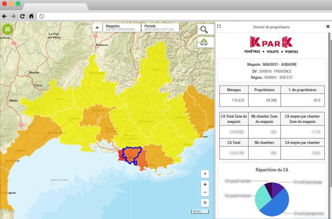 KparK améliore la sectorisation commerciale de ses points de vente grâce à la Platforme Géomarketing de Galigeo
