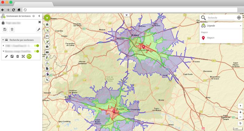 KparK analyse ses zones de chalandises avec la Platforme Géomarketing de Galigeo