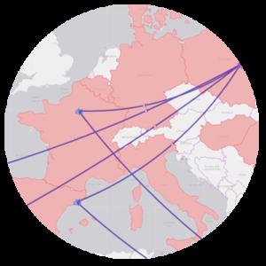 Visualisations avancées pour IBM Cognos - Carte de flux